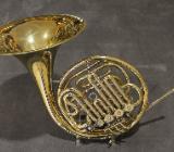 Hans Hoyer Bb / F Waldhorn / Doppelhorn, 5 Ventile inkl. Koffer