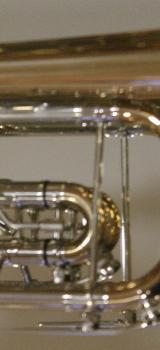 Meister J. Scherzer C - Konzerttrompete aus Goldmessing mit Neusilberkranz inklusive Koffer. Neu - Bremen Mitte