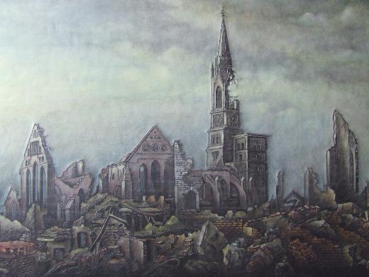 """ ST. STEPHANI - KIRCHE  AM  19. AUGUST 1944 "" - Bremen"