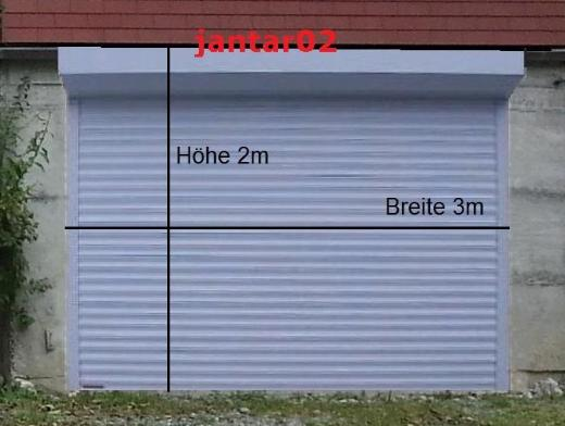 TOR ROLLTOR 3000 x 2000 mm Tore Garagentor Elektrisch Rolladen Garage Carport - Ovelgönne