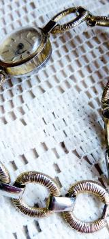 """Kenner: Mechan. Damen-Markenuhr """"ANKER"""", goldfarbig, mit Gliederarmband! - Diepholz"""