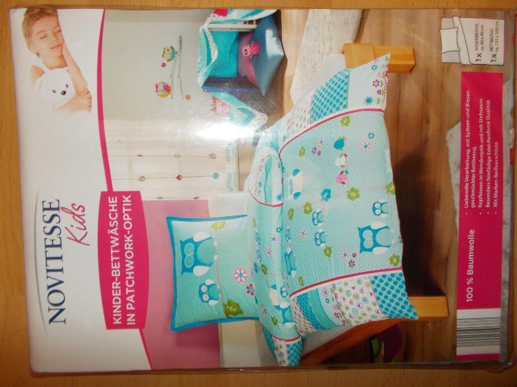 2 x eulen patchwork bettw sche set 135 x 200cm neu edewecht weser kurier markt 7d1a84d5. Black Bedroom Furniture Sets. Home Design Ideas