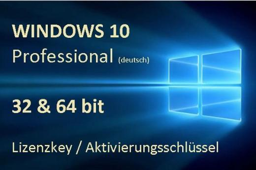 Windows 10 Professional (dt.) Lizenzkey/ Aktivierungsschlüssel für 32 & 64 bit - NEU! - Oyten