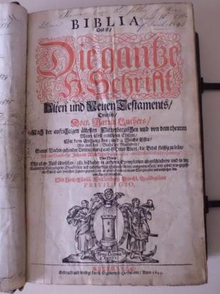 Lutherbibel von 1695 als Weihnachtsangebot-Festpreis! - Bremen