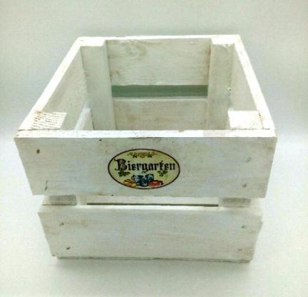 kleine Holzkisten, weiß, Apfelkisten, Blumentopf, Holzregal,Aufbwahrung,Besteckkorb,Kartoffelkorb,Blumenschale,Wandregal,Würfel,Wanddeko - Stuhr