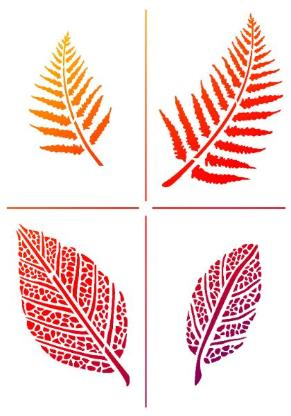 Schablonen,Herbst,Blätter,Upcycling,Malen,Kreidefarbe,Stempeln,Acrylblock,Silikonstempel,Bremen, Workshop - Stuhr