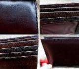 Leder-Brieftasche ohne Kleingeld-Fach, dunkelbraun, unbenutzt in der OVP - Diepholz