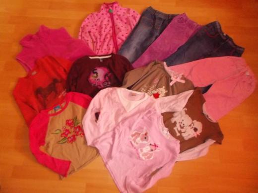 13 Teiliges Bekleidungs Paket für Mädchen in 116 - Edewecht