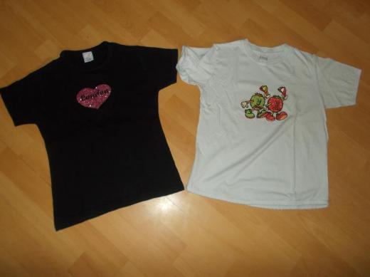 7 Teiliges T - Shirt Paket für Mädchen in 146 - Edewecht