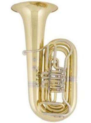 V.F. Cervený Tuba in BBb, Mod. CBB 681-4 inkl. Rollenkoffer, Neuware - Bremen Mitte