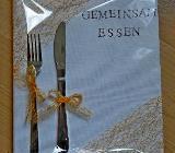 """UNIKAT...! """"Essen-Gutschein"""" mit echtem Edelstahl-Besteck, in Fole - Ansehen! - Diepholz"""