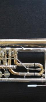 Orig. Meister J. Scherzer Konzert Trompete Ref. 8211 Goldmessing mit Neusilberkranz - Bremen Mitte