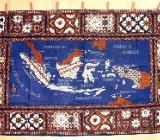 Wandbehang Landkarte Indonesien - Echte Batik! Einzelstück - Bremen
