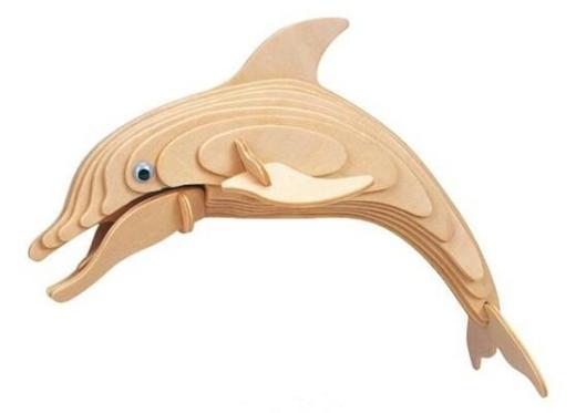 3D Holzpuzzle Delfin, NEUWARE - Scheeßel