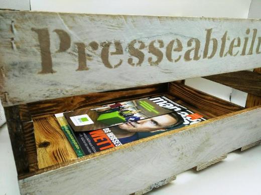 Zeitschriftenkiste, Zeitungsständer, Zeitschriftenhalter,Kiste,Zeitungskiste,Büroablage,Rollcontainer,Zeitschriftenbox - Stuhr