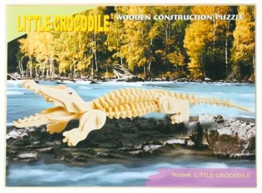 3D Puzzle Krokodil aus Holz - NEUWARE OVP - Scheeßel