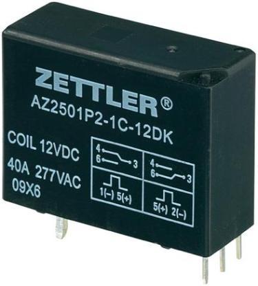 Relais Printrelais 12 V/DC 40A Zettler AZ2501P2-1C-12DK NEU - Langwedel (Weser)