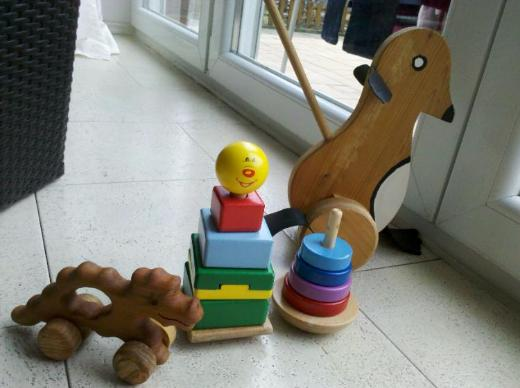 Spielzeug aus Holz Holzspielzeug Lern laufhilfe Motorikspielzeug - Langwedel (Weser)