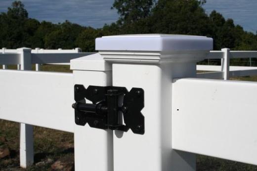 ATC Weidezaun-Doppel-Tor, 2-flg. PVC weiß H1200xB3000mm, Kunststofftor, Weidetor - Rotenburg (Wümme)