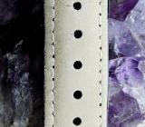 Neuwertige Unisex-Armbanduhr, Edelstahl, flach, mit Lederarmband - Diepholz