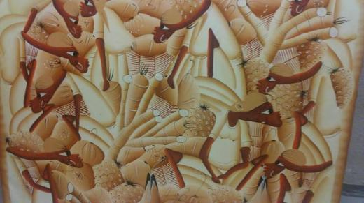 2 verschiedene Leinwand handgemalt Savanne Tunesien Dom Rep - Bremen
