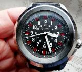 """Cacalla""-Edelstahl-Armbanduhr, 5 ATM, LED-Illumination, Echtleder, neuwertig in OVP! - Diepholz"