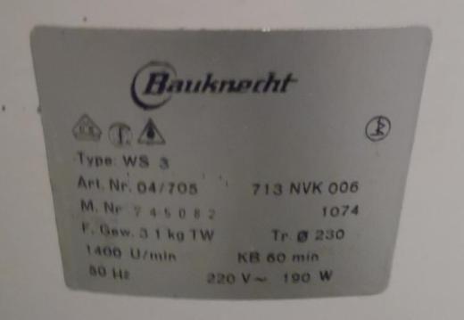 Wäscheschleuder Marke Bauknecht - Berne