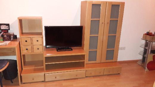 Schrankwand in Buche mit TV-Schrank - Stuhr