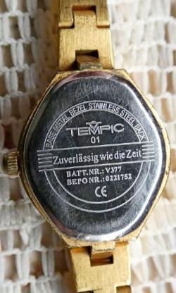 """Gute Damenuhr """"TEMPIC"""", Gliederarmband, neue Batterie, Zustand gut! - Diepholz"""