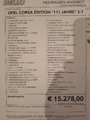 Corsa 1.2 Ecoflex, Edition 111 Jahre - Weyhe