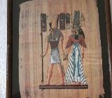 Dachbodenfund- 3x Papyrus Bilder –Ägypten - Barnstorf