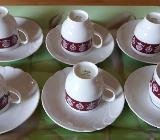 Kaffeetassen Melitta WIEN Bordeaux / Ornamenten Lilo Kantner - Barnstorf