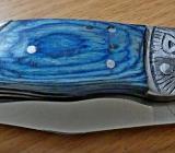 Taschenmesser, Edelstahlklinge, Holzgriffschalen, noch unbenutzt in OVP - Diepholz
