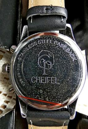 "Analog-Chrono ""CHEIFEL"", Lederarmband, Bedienanleitung, ungetragen in OVP - Diepholz"