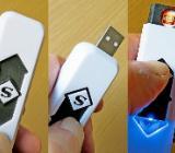 USB-Feuerzeug, am PC wiederaufladbar, top bei Wind/Sturm/Regen/Schnee usw., unbenutzt, neu - Diepholz