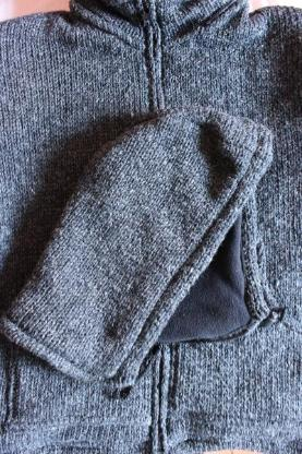 Jacke Strickjacke Kapuzenjacke Kapuze Wolle Winter blau türkis grau Größe M ungetragen NEU! - Bremen