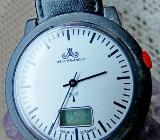 """Meister Anker"" FUNK-Armbanduhr, Lederarmband, Batterie neu - ansehen! - Diepholz"
