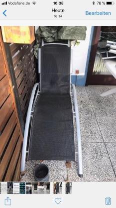 Gartenliege in Alu Metall zu verkaufen - Achim