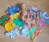 Jungen Baby Puppe 45 cm + Zapf Zubehör Neu ! +10 x Bekleidung - Edewecht