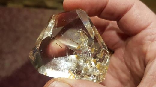 Bergkristall Rutil-Limonit Freeform zu verkaufen. - Bremen