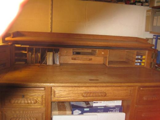 Schreibtisch, Antiker massiver Eichenholz- - Bremen