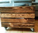 Couchtisch auf Rollen,Regal,Tisch,Truhe,Holzkiste, Beistelltisch, Rollcontainer, Stauraum, Holztisch, Bürorodnung - Stuhr