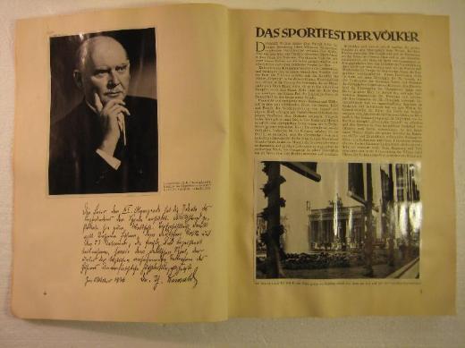 Olympische Spiele 1936 Band 2 vom Bilderdienst - Thedinghausen