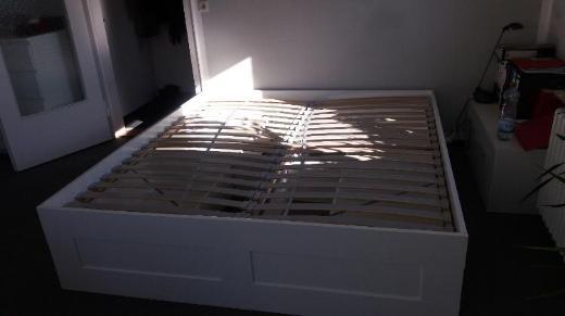 Doppelbett mit Schubladen, auch Federholzrahmen dazu, guter Zustand - Bremen