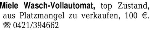 Miele Wasch-Vollautomat, -