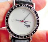 Damen-Design-Armbanduhr, Lederarmband, Batterie neu, nahezu neuwertiger Zustand - Diepholz