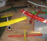 5 Modellflugzeuge wegen Hobbyaufgabe zu verkaufen - Harpstedt