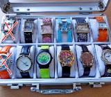 Neuer Repräsentations-Koffer mit 10 modischen Damen-Armbanduhren, super! - Diepholz