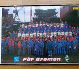 Bremer Vulkan  Werder Bremen  Poster im Rahmen 93x62cm - Bremen