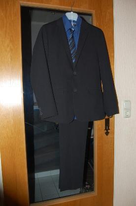 3-Teiliger Konfirmations-Anzug, dunkelblau, Gr. 176 - Bremen